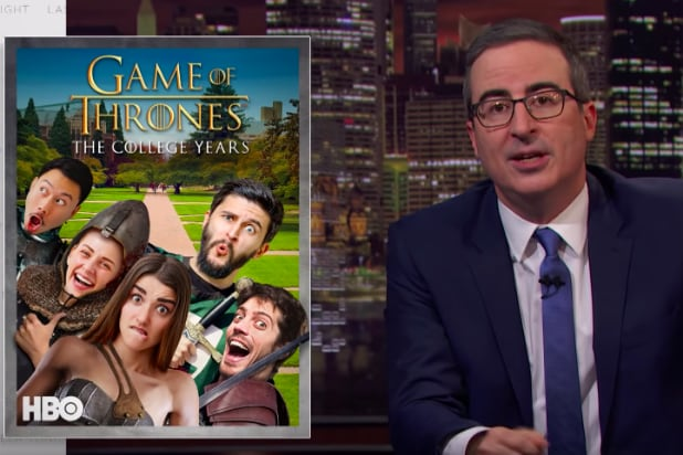 John Oliver Mocks All of HBO's 'Game of Thrones' Prequels – on HBO (Video)