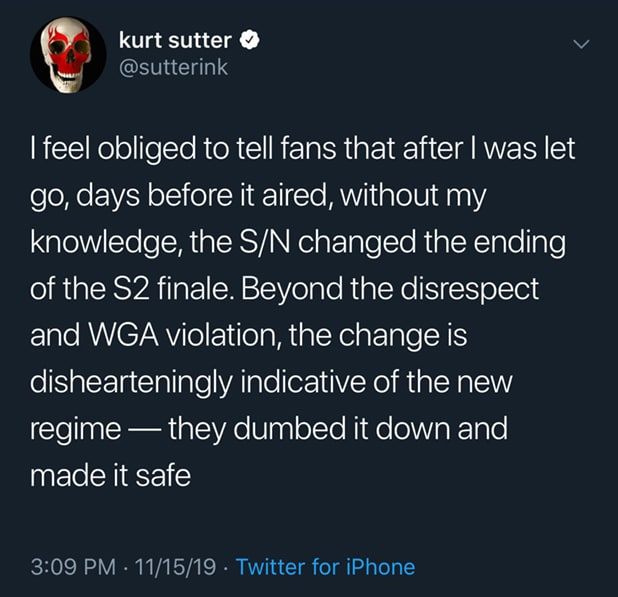 Kurt Sutter tweet