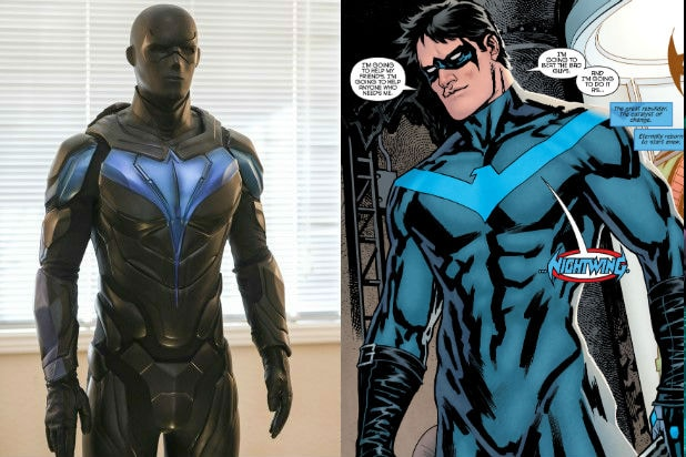 Nightwing Suit Titans Version and Comics