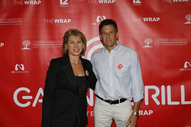 Sharon Waxman and Strauss Zelnick at the Gaming Grill 2019