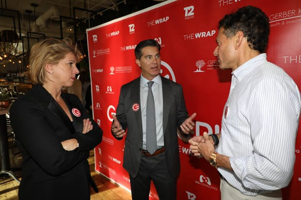 Sharon Waxman, Ross Gerber and Strauss Zelnick at the Gaming Grill 2019
