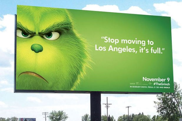 grinch billboard