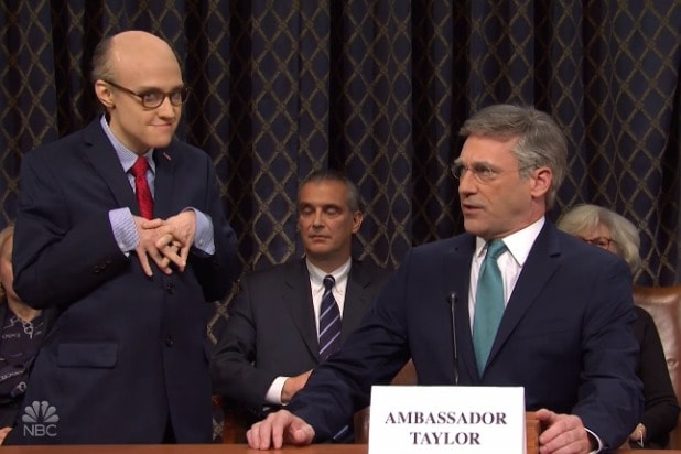 'SNL': Jon Hamm Is Bill Taylor in 'Days of Our Lives' Parody of Impeachment Hearings (Video)