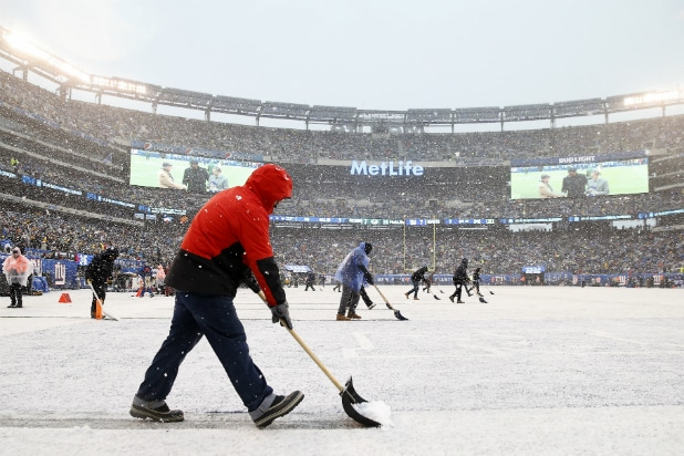 Packers vs. Giants in the snow