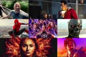 Avengers Spider-Man, Terminator, John Wick, Dark Phoenix Hobbs & Shaw, Franchise Movie Tracker 2019