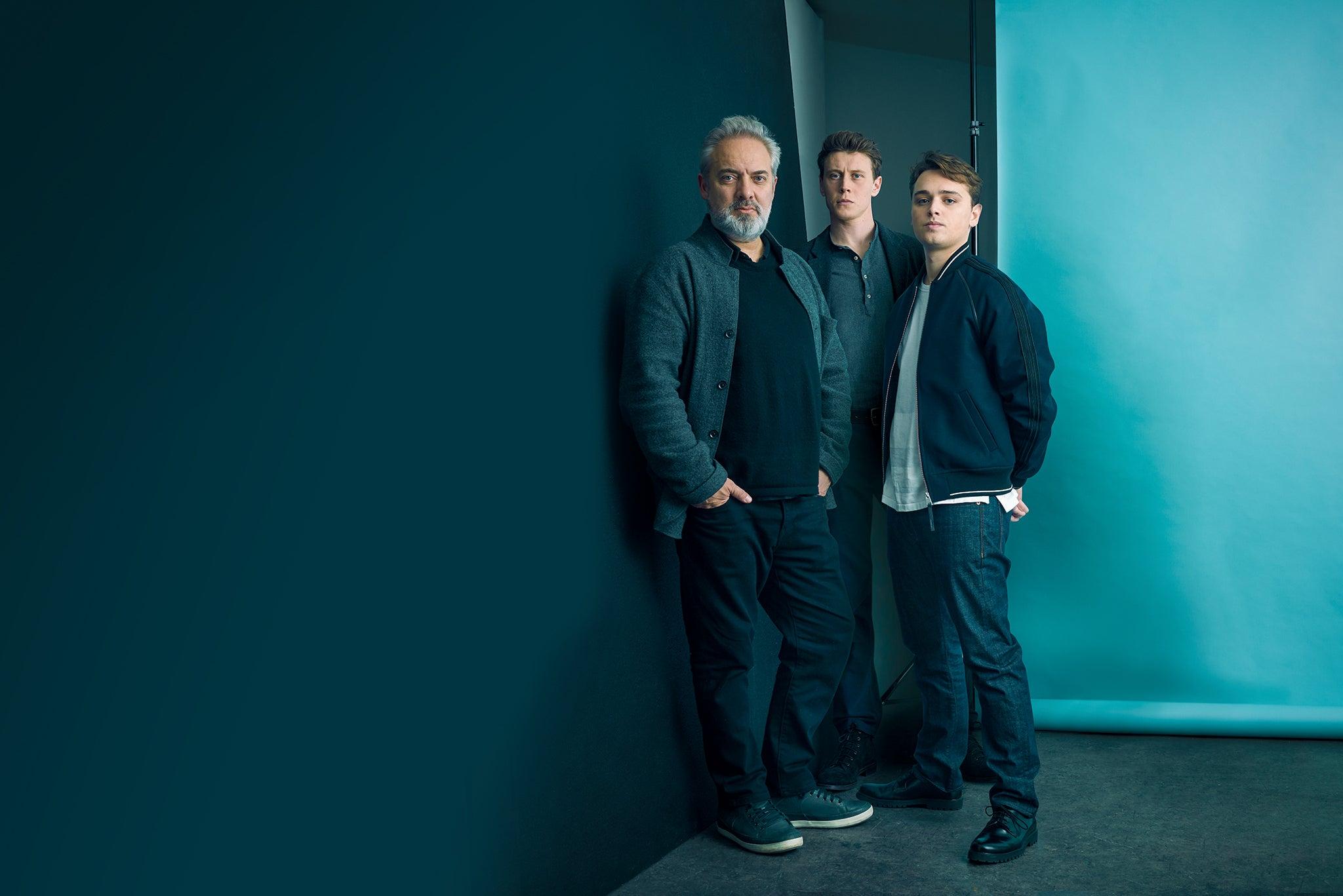 Sam Mendes, George MacKay and Dean-Charles