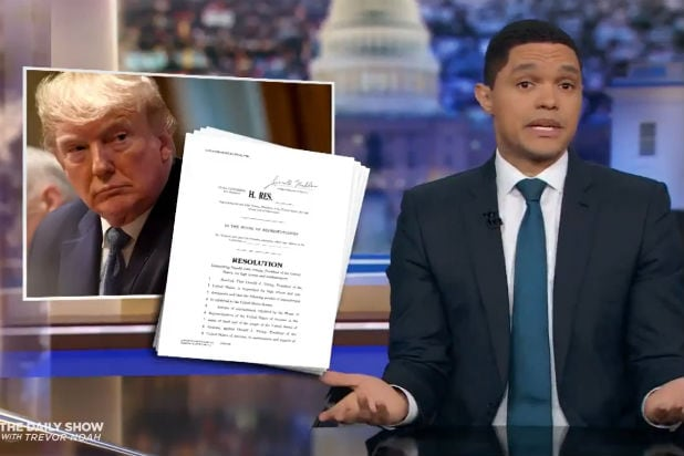Trevor Noah Trump Impeachment Daily Show