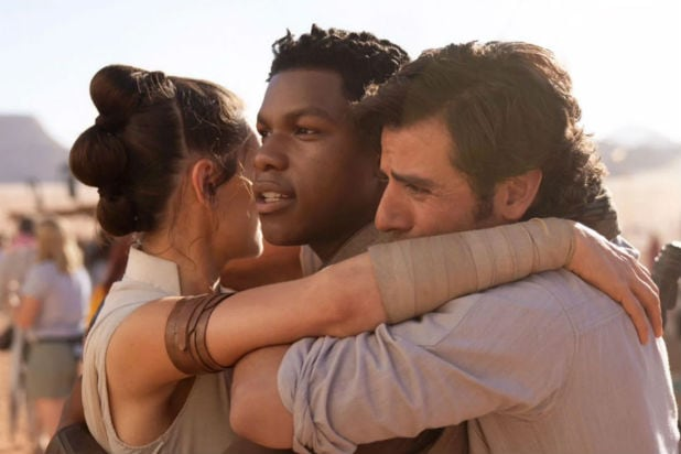 What did Finn tell Rey Hug Poe Star Wars Rise of Skywalker
