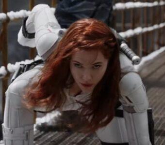 Black Widow Scarlett Johansson White Suit