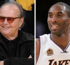 Jack Nicholson and Kobe Bryant