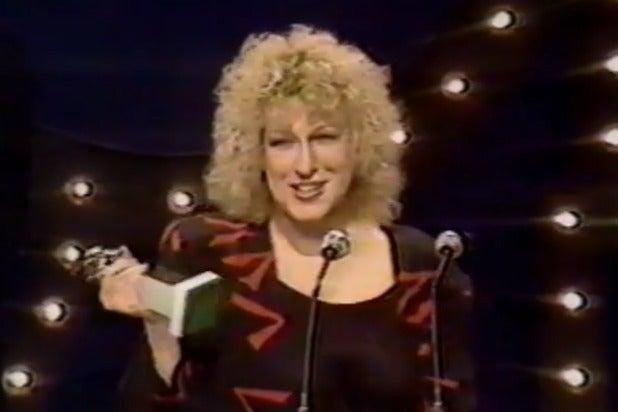 Bette Midler Golden Globes