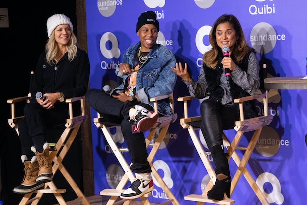 A Conversation With Quibi's Founder Jeffrey Katzenberg And Quibi Creators Lena Waithe, Veena Sud, And Kaitlin Olson At Sundance 2020