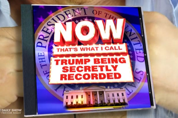 'The Daily Show' Turns All Those Trump Recordings Into a '90s-Style Pop Compilation (Video)