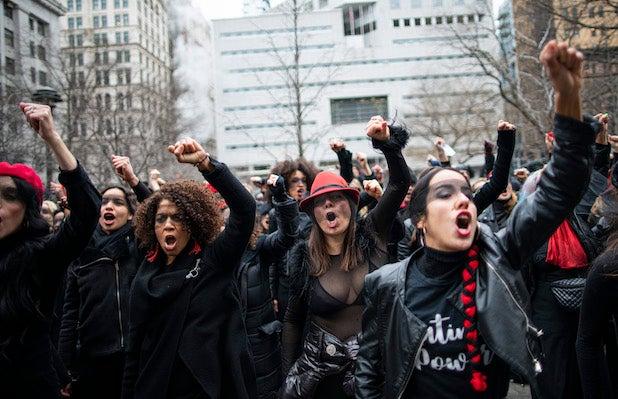 Harvey Weinstein protesters