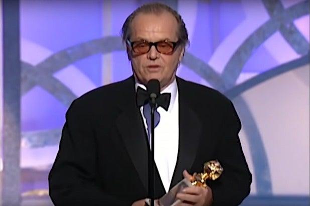 Jack Nicholson Golden Globes