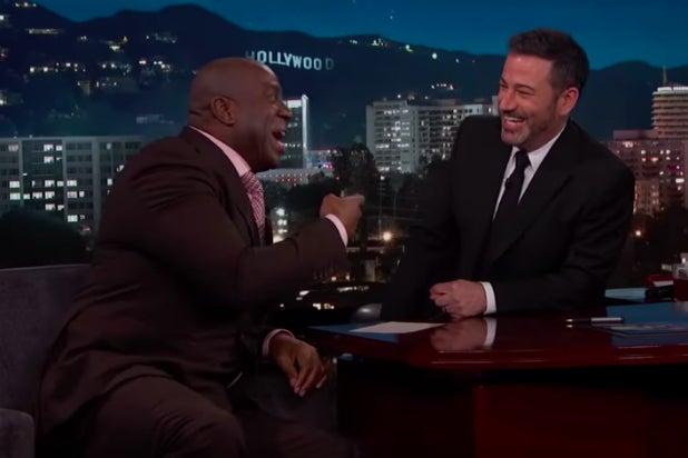 Magic Johnson and Jimmy Kimmel
