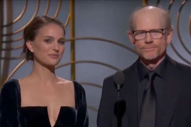 Natalie Portman Ron Howard Golden Globes