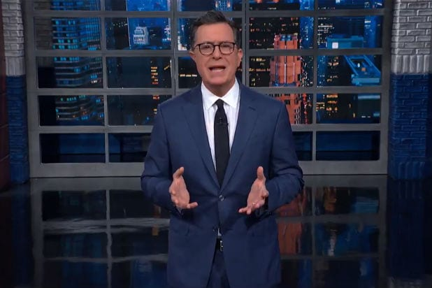Stephen Colbert Golden Globes Trump Iran