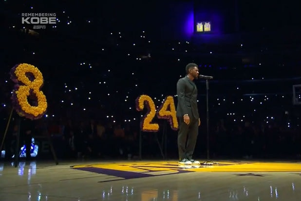 Usher Kobe Bryant LA Lakers Tribute