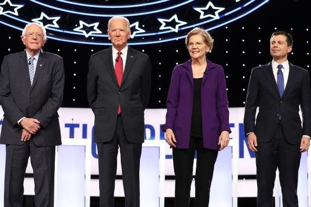 Bernie Sanders Joe Biden Elizabeth Warren Pete Buttigieg Debate