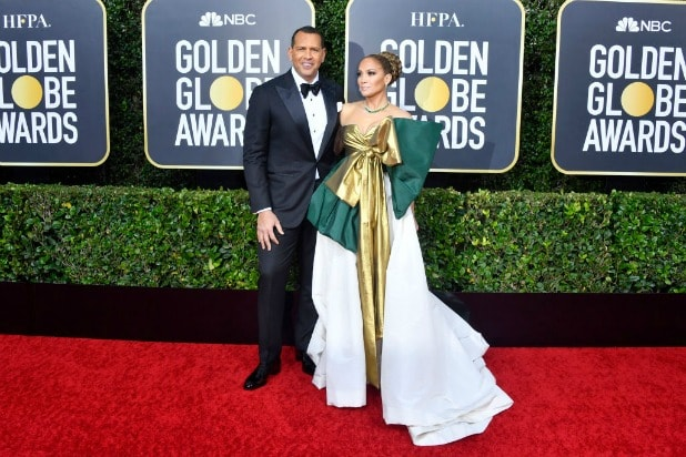 getty images golden globes red carpet jennifer lopez alex rodriguez
