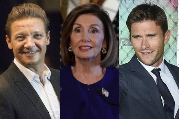 Jeremy Renner Nancy Pelosi Scott Eastwood