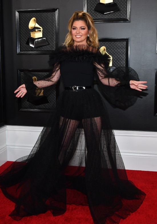 2020 Grammy Awards Red Carpet Shania Twain
