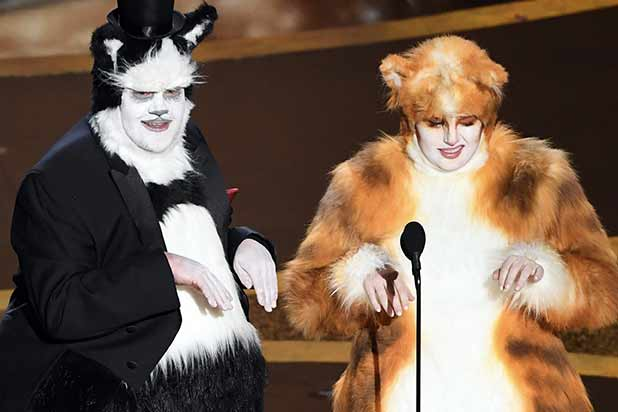 James Corden Rebel Wilson Oscars 2020 Cats