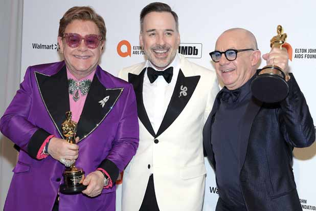 Elton John, David Furnish and Bernie Taupin