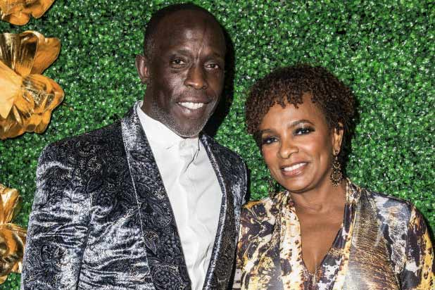 Michael K. Williams and Vanessa Bell Calloway at Griot Gala