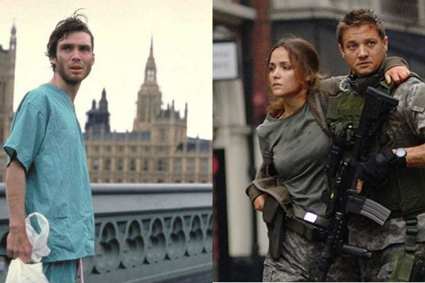 28 Days Later Cillian Murphy 28 Weeks Later Jeremy Renner Virus Outbreak Movies