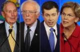 Mike Bloomberg, Bernie Sanders, Pete Buttigieg, Elizabeth Warren
