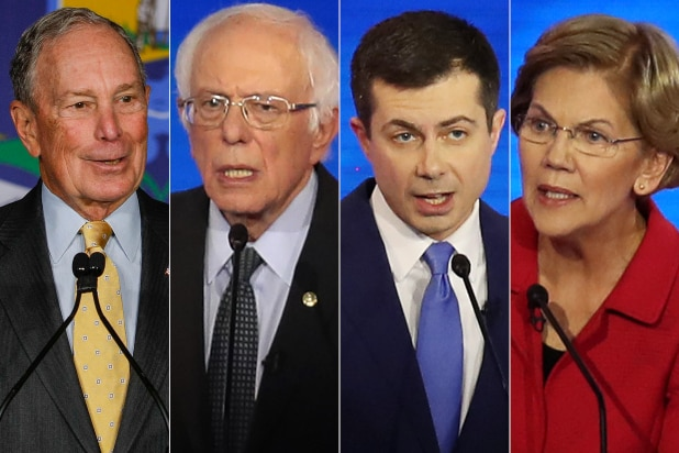 Mike Bloomberg, Bernie Sanders, Pete Buttigieg, Elizabeth Warren