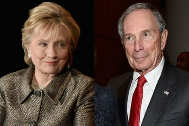 Hillary Clinton Michael Bloomberg