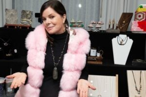 Marcia Gay Harden stops at the GBK Luxury Lounge