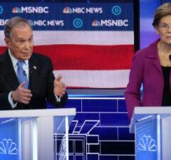 Mike Bloomberg and Elizabeth Warren debate in Las Vegas