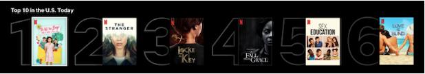 Netflix top 10 feature