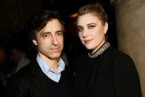 Noah Baumbach and Greta Gerwig attend the Cadillac party