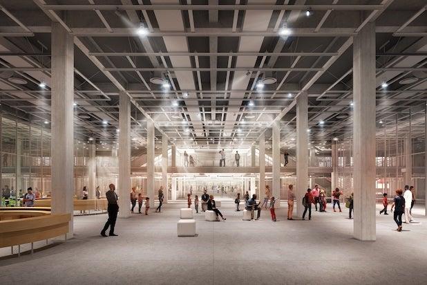 Academy Museum lobby rendering