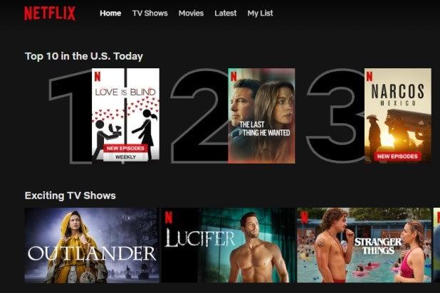 Netflix Top 10 List