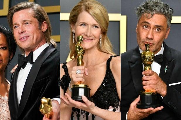 Brad Pitt, Laura Dern, Taika Waititi, oscar winners 2020