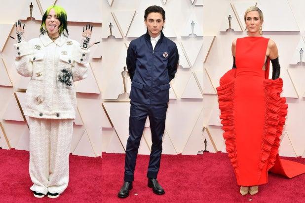 Oscars 2020 red carpet Billie Eilish Timothee Chalamet Kristen Wiig