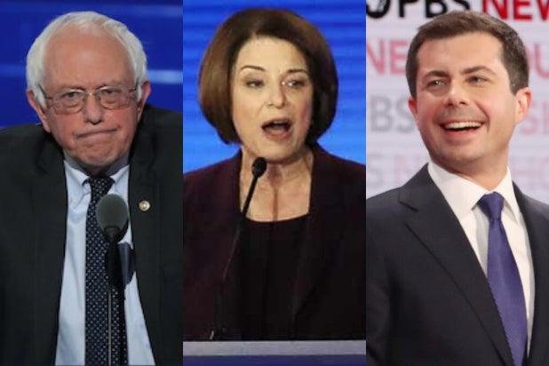 Bernie Sanders, Amy Klobuchar, Pete Buttigieg