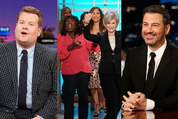 Corden, Kimmel, The Talk