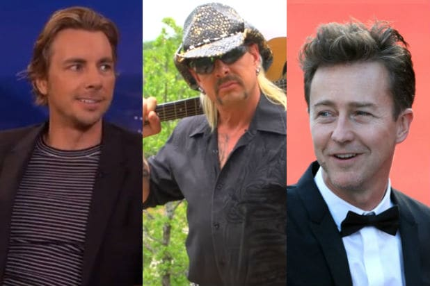 Edward Norton and Dax Shepard Both Think They Should Play 'Tiger King' Subject Joe Exotic in a Biopic