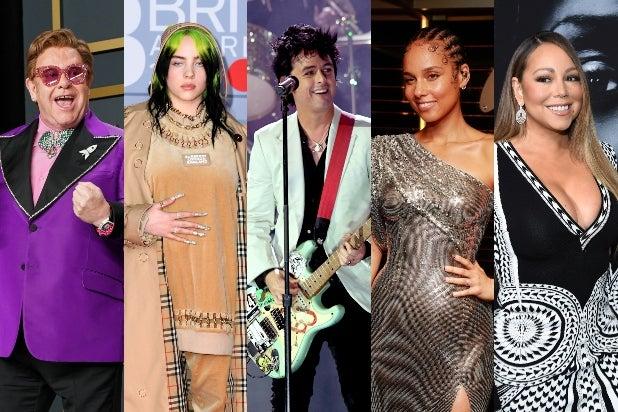 Elton John, Billie Eilish, Billy Joe Armstrong, Alicia Keys, Mariah Carey