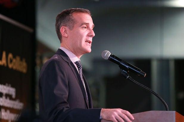 LA Mayor Eric Garcetti photographed in January