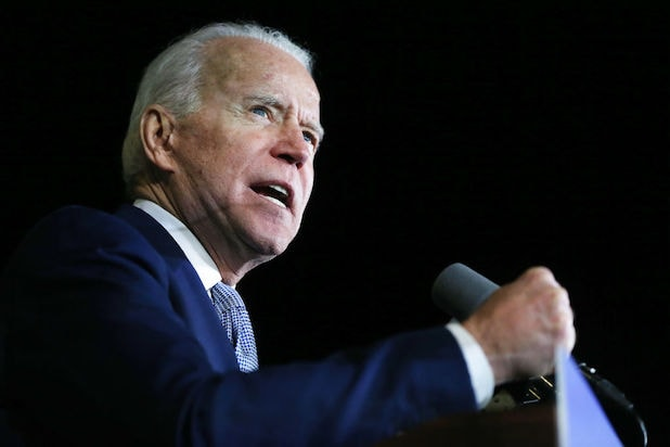 Joe Biden in Los Angeles on Super Tuesday