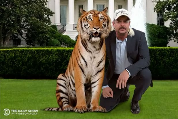 Trevor Noah Explains Why 'Tiger King' Subject Joe Exotic and Trump Are Basically the Same (Video)
