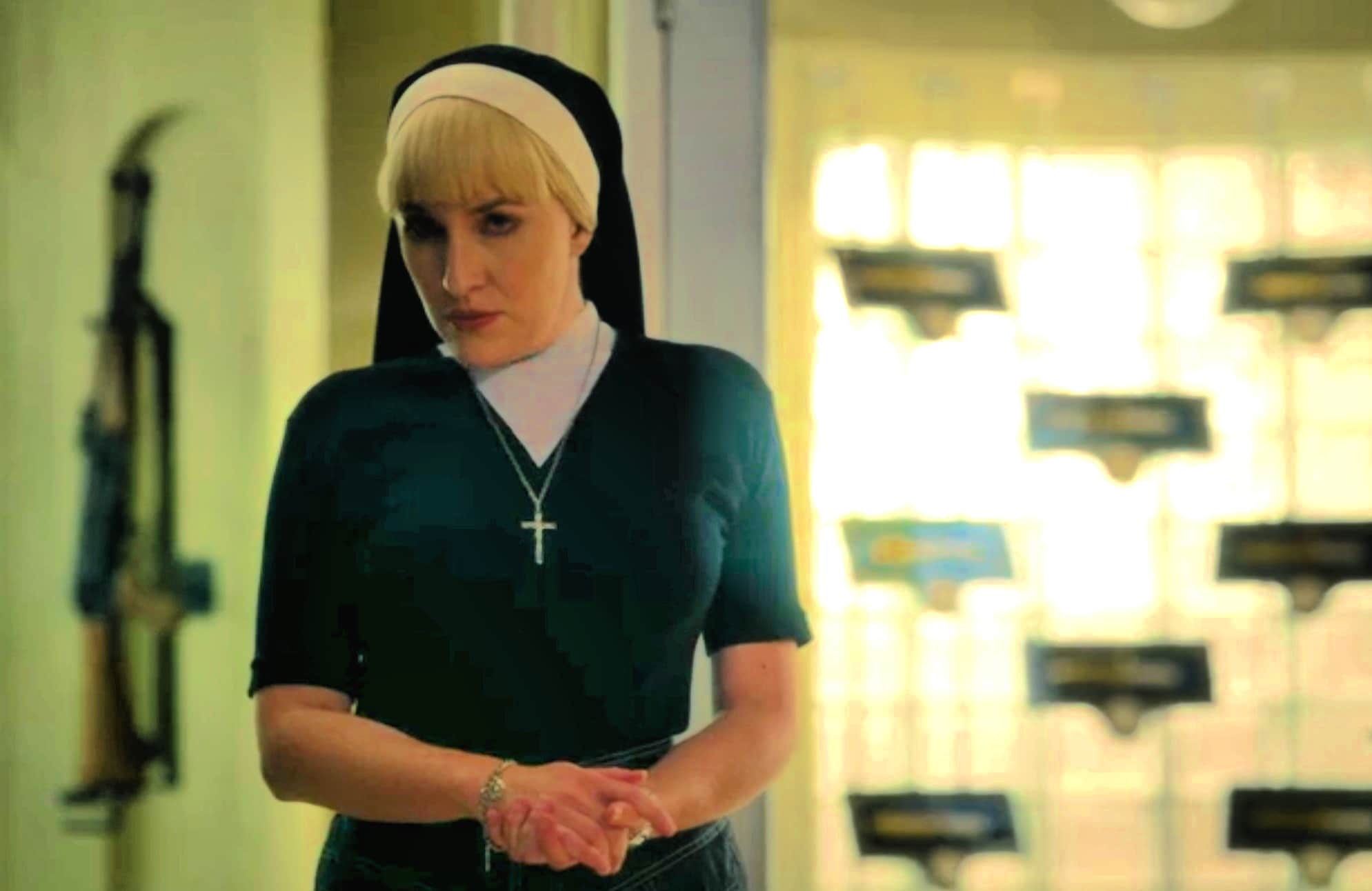 amazon prime video hunters sister harriet the nun rebekah